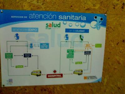 Fluvi en los carteles del Servicio de Salud